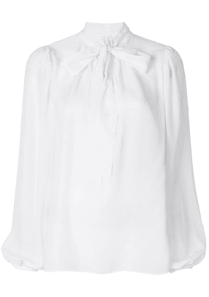 Dolce & Gabbana long sleeve blouse with pussy bow - White