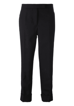 Thom Browne Classic Backstrap Trouser With Tuxedo Stripe In 2ply