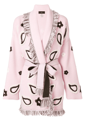 Alanui belted paisley robe - Pink