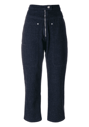 Isabel Marant high-waisted cropped jeans - Blue