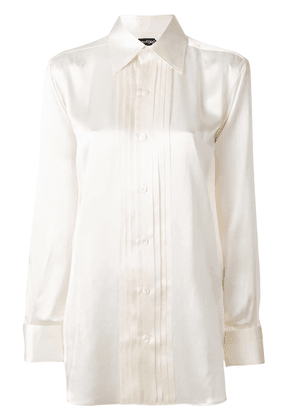 Tom Ford pleated front shirt - White