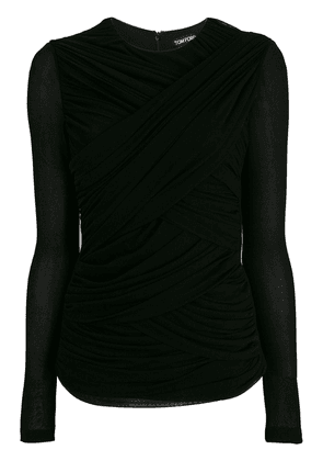Tom Ford ruched fitted top - Black