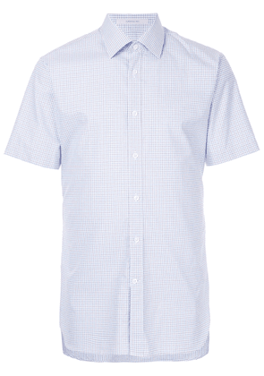 Gieves & Hawkes checked short-sleeves shirt - Blue