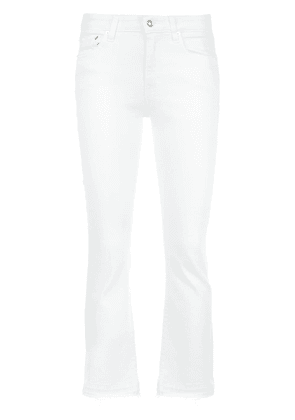Derek Lam 10 Crosby Gia Mid-Rise Cropped Flare - White