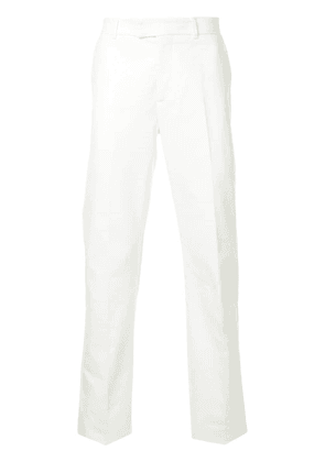 Gieves & Hawkes tailored fitted trousers - White