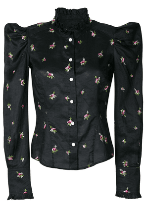 Isabel Marant floral embroidered shirt - Black