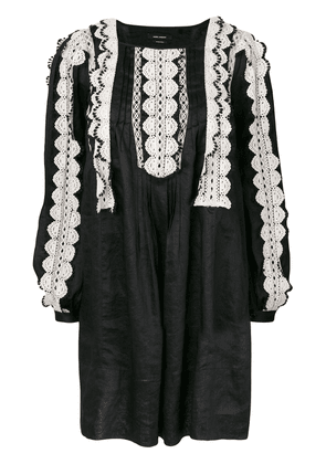 Isabel Marant lace trim dress - Black