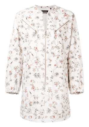 Isabel Marant Telka floral shirt dress - White