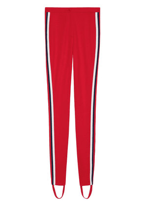 Gucci Jersey stirrup legging with Web - Red