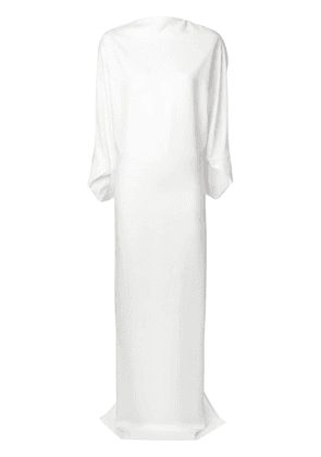 Chalayan draped high neck gown - White