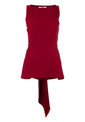 Chalayan satin tie back blouse - Red