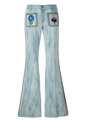 Gucci studded flared jeans - Blue