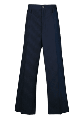 Marni loose fit striped chinos - Blue