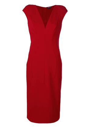 Tom Ford fitted panel dress - Red