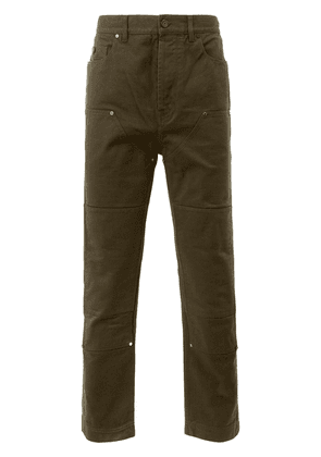 Lanvin panelled denim trousers - Green