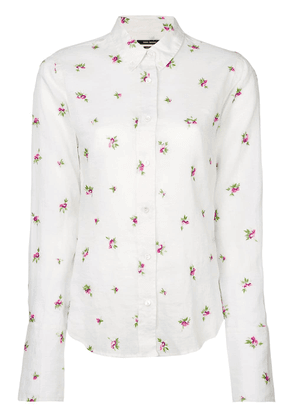 Isabel Marant floral embroidered shirt - White