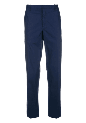 Moncler straight leg chino trousers - Blue