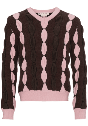 Marni V neck wool sweater - Pink