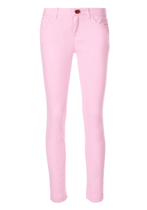 Dolce & Gabbana rose button skinny jeans - Pink