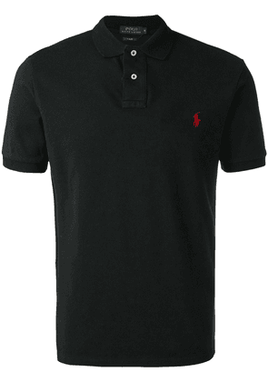 Polo Ralph Lauren logo embroidered polo shirt - Black