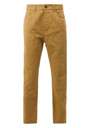 Lanvin panelled denim trousers - Yellow