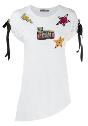 Dolce & Gabbana patch embroidered T-shirt - White