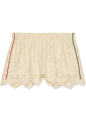 Gucci Flower lace shorts - White