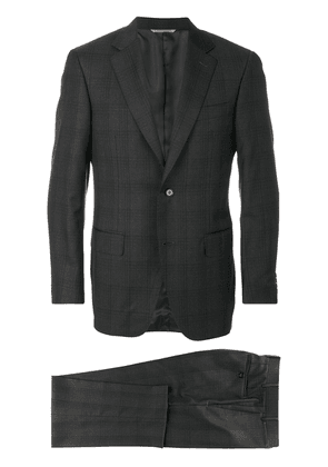Canali checkered suit - Grey