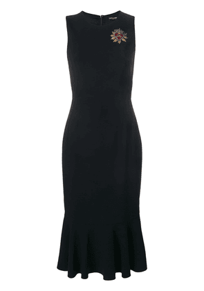 Dolce & Gabbana fitted classic sleeveless dress - Black