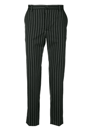 Dolce & Gabbana pinstriped trousers - Black