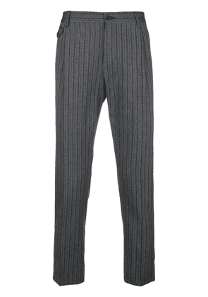 Dolce & Gabbana striped tailored trousers - Grey