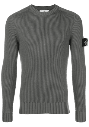 Stone Island logo fitted long-sleeve top - Green