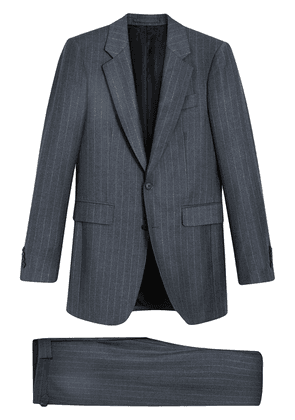 Burberry Slim Fit Pinstripe Wool Cashmere Suit - Grey