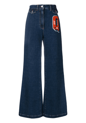 Dolce & Gabbana Q patch flared jeans - Blue