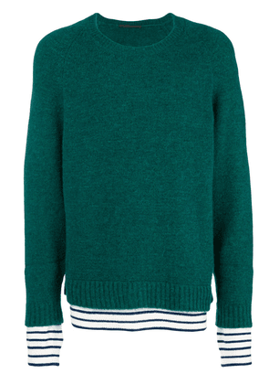 Haider Ackermann layer detail sweater - Green
