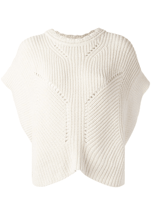 Isabel Marant ribbed knitted top - Neutrals