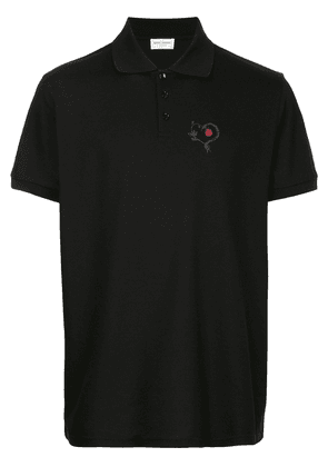 Saint Laurent Snake Heart polo shirt - Black