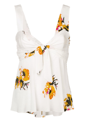A.L.C. floral babydoll camisole - White