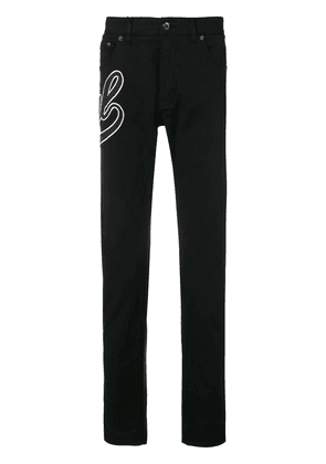 Dolce & Gabbana Royal embroidered jeans - Black