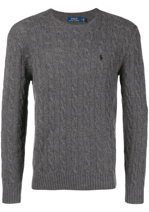 Polo Ralph Lauren cable knit logo embroidered jumper - Grey