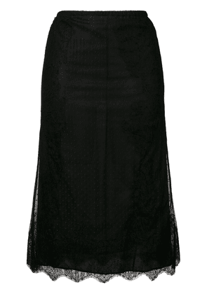 Valentino polka dots sheer skirt - Black