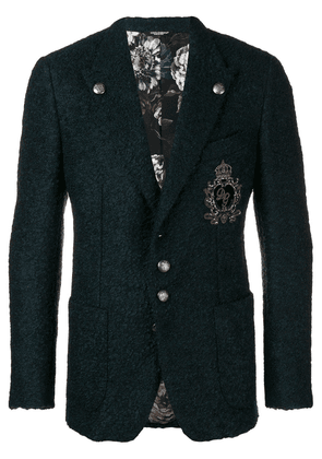 Dolce & Gabbana single breasted jersey blazer - Blue