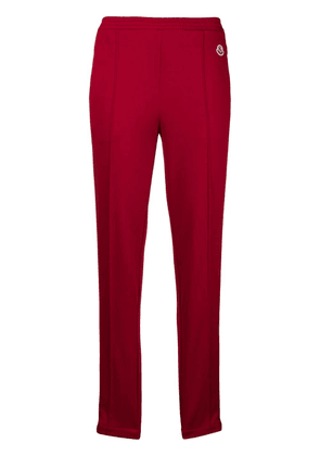 Moncler slim side stripe joggers - Red