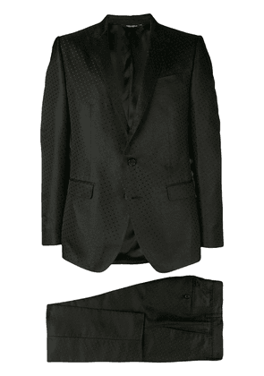 Dolce & Gabbana jacquard two-piece suit - Black