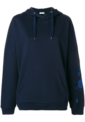 Closed embroidered hoodie - Blue