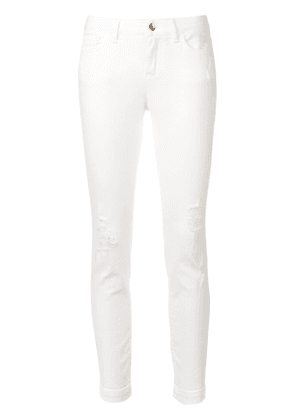 Dolce & Gabbana cropped skinny jeans - White