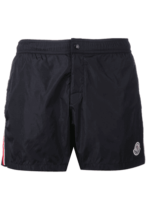 Moncler striped trim swim shorts - Black
