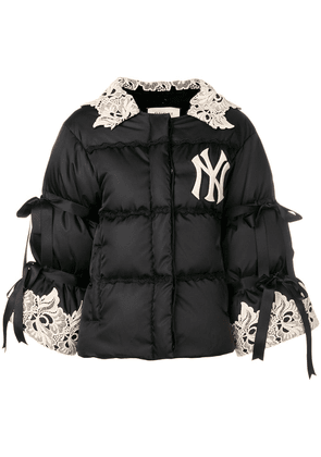 Gucci floral lace NY puffer jacket - Black