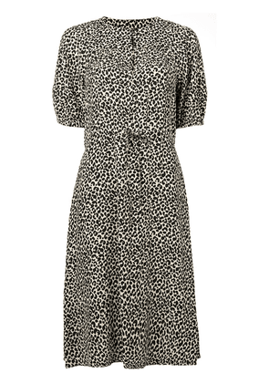 A.P.C. leopard print midi dress - Neutrals