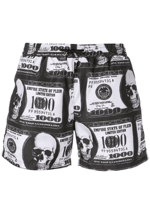 Philipp Plein Dollar bill print swim shorts - Black
